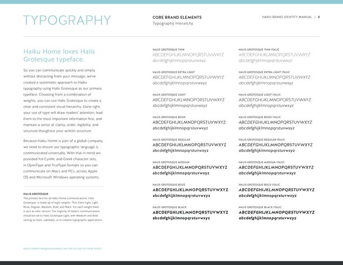 Haiku Home brand manual 4