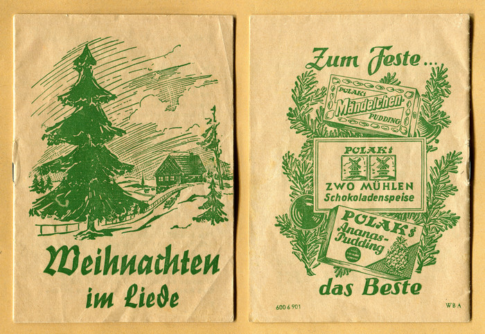 This edition (1940s?) uses , a cursive with blackletter elements. The typeface was first cast by  in 1935, based on drawings by . The back cover is lettered.