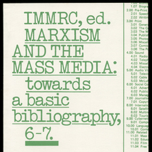 <cite>Marxism and the Mass Media</cite> by IMMRC (ed.)