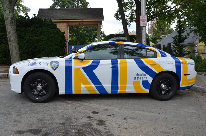 """""""Defender of the arts"""" – RISD Public Safety cars 1"""