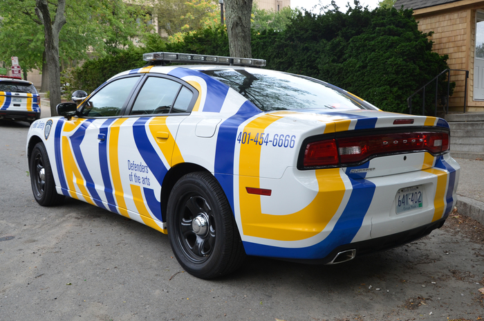 """""""Defender of the arts"""" – RISD Public Safety cars 2"""