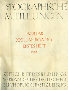 """<cite>Typographische Mitteilungen</cite>, Vol. 22, No. 1, January<span class=""""nbsp"""">&nbsp;</span>1925"""