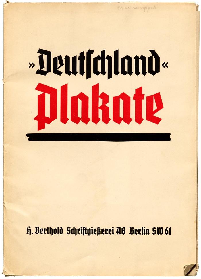Cover of the specimen folder