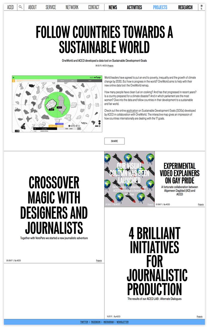 ACED Platform for Design and Journalism 3