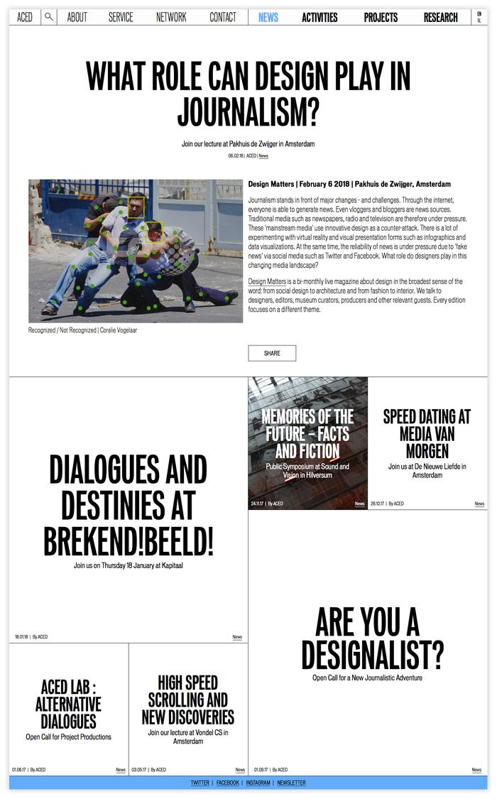 ACED Platform for Design and Journalism 7