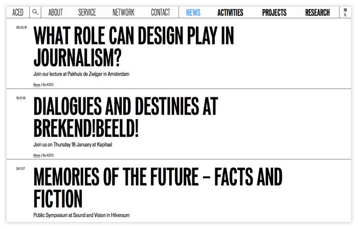 ACED Platform for Design and Journalism 5