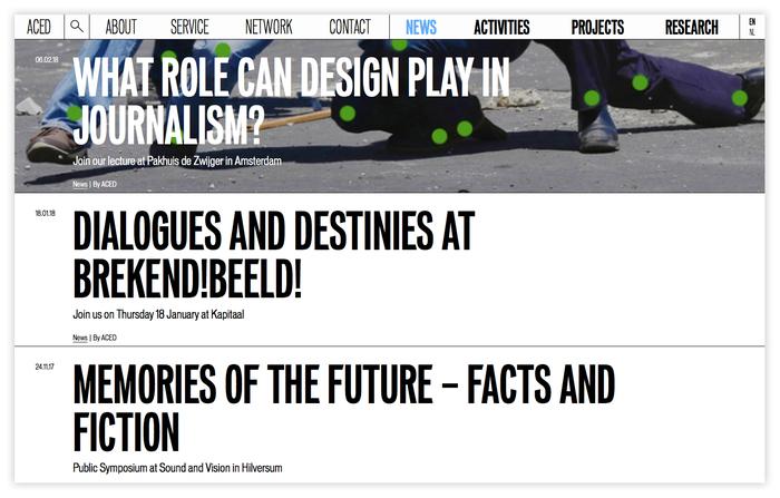 ACED Platform for Design and Journalism 6