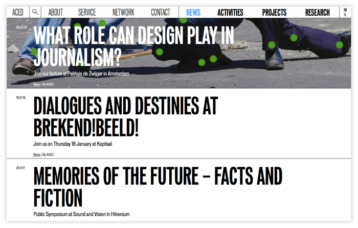 ACED Platform for Design and Journalism 6