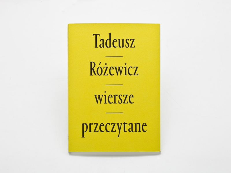 Wiersze Przeczytane By Tadeusz Różewicz Fonts In Use