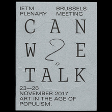 <cite>Can We Talk? Art in the age of populism</cite> (publication)
