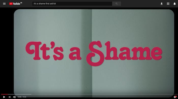 It's a Shame videoclip title
