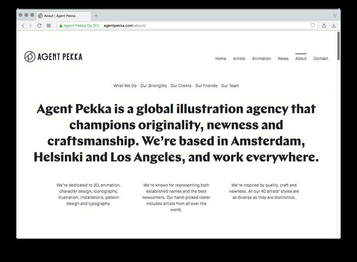Agent Pekka website 1
