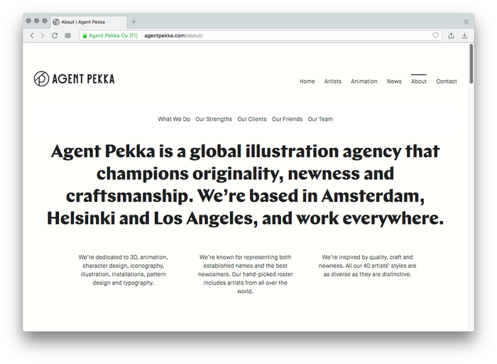 Agent Pekka website 1