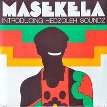 Hugh Masekela at <span>Lincoln Center Philharmonic Hall</span> concert poster (1967/1972?), <cite>Introducing Hedzoleh Soundz</cite> album art (1973)