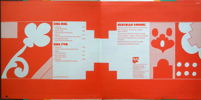 Inner gatefold with track listing and credits.