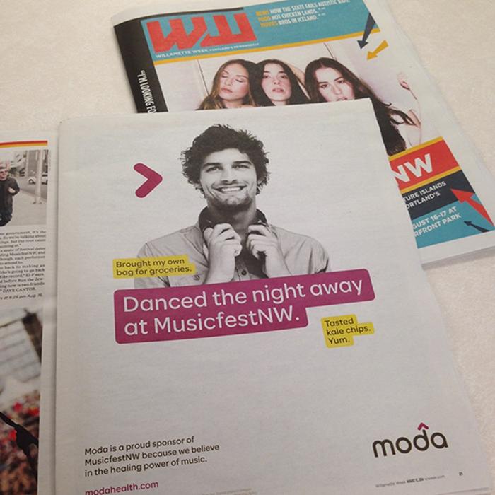 MusicfestNW magazine ad. Design by Jessica Glidden