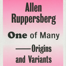 <cite>Allen Ruppersberg, One of Many – Origins and Variants</cite>