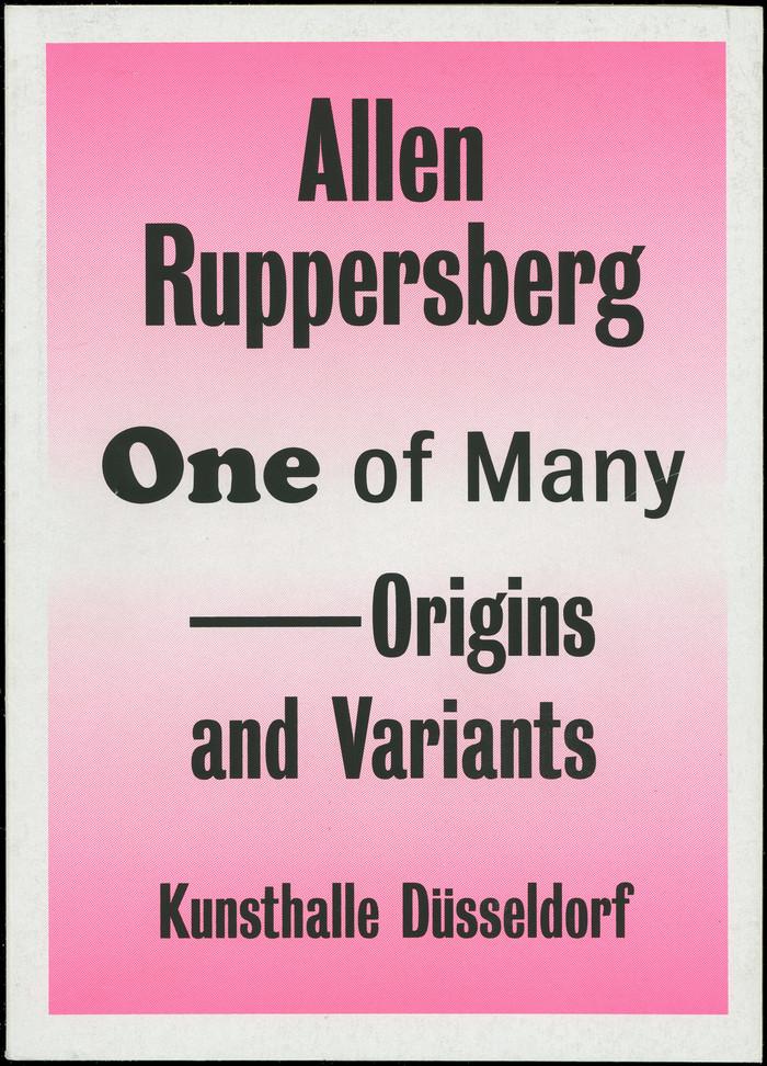 Allen Ruppersberg, One of Many – Origins and Variants