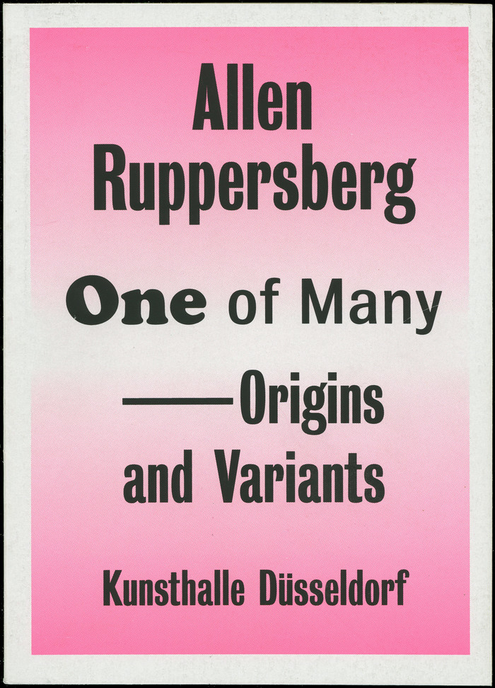 Allen Ruppersberg, One of Many – Origins and Variants