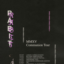 Rabit tour poster (2015) vs. Drake – <cite>Scary Hours</cite> cover art (2018)
