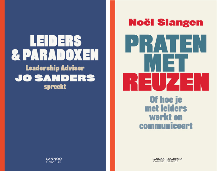 Rhode for leaders: Lannoo Campus book covers