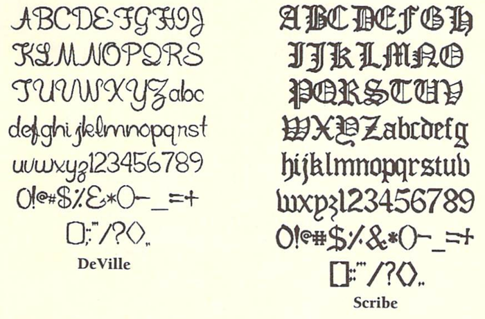 DeVille and Scribe, from the manual