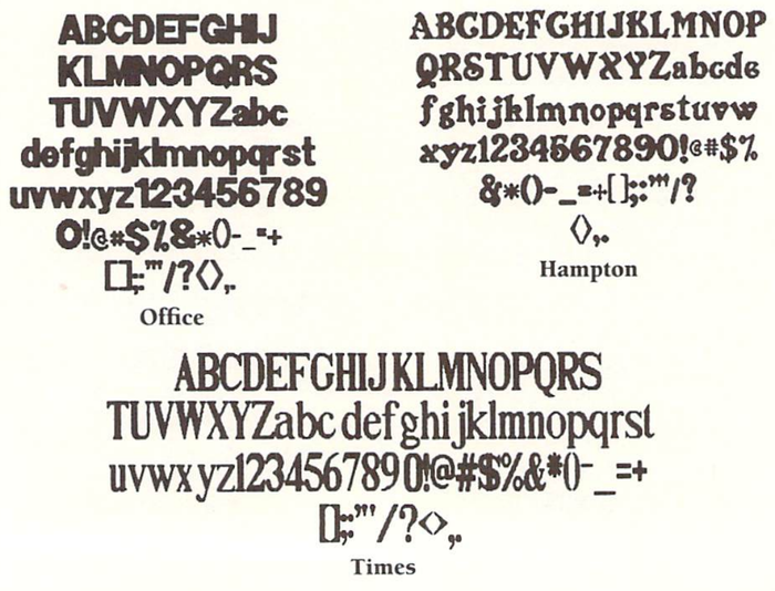 Office, Hampton and Times, from the manual