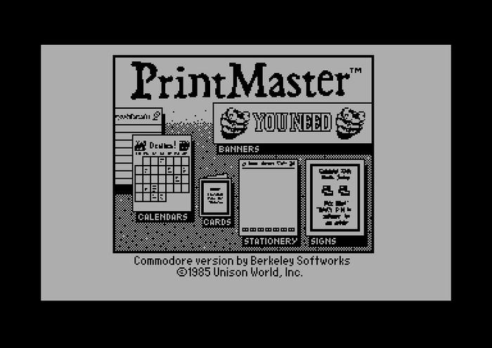 PrintMaster title screen