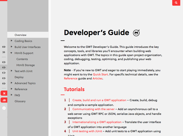GWT Project website 4