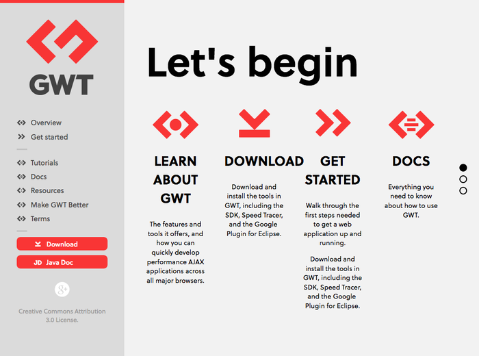 GWT Project website 3