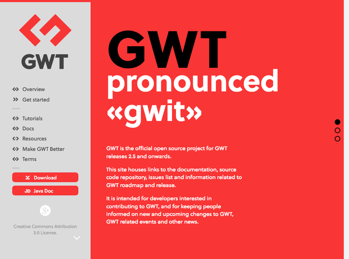 GWT Project website 2