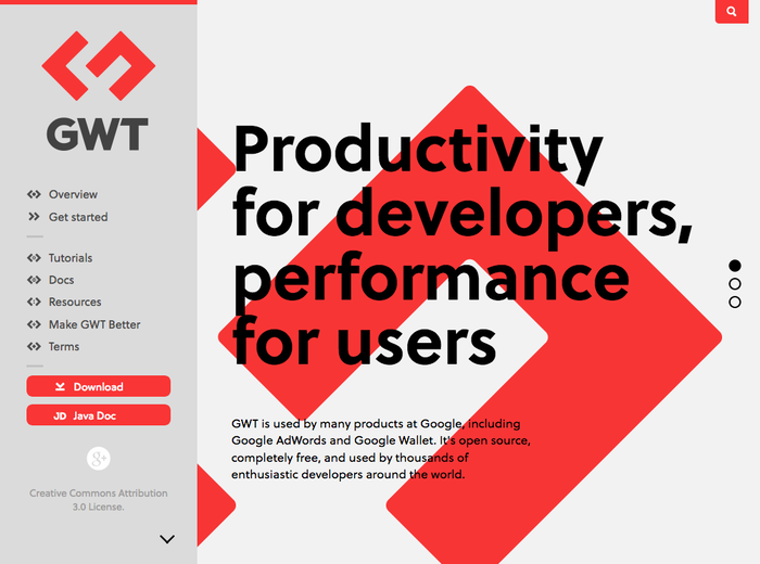 GWT Project website 1