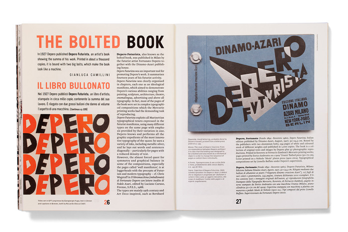 Titles set in GFT Lespresso Sans by Giangiorgio Fuga; text in Zenon and captions in Brevier, both by Riccardo Olocco/CAST