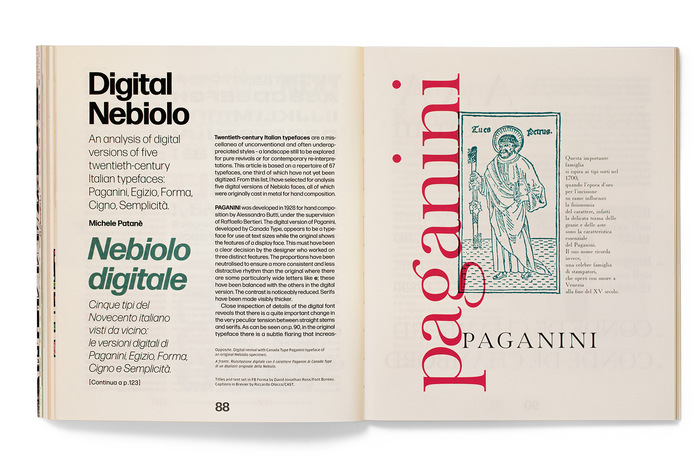 Titles and text set in FB Forma by David Jonathan Ross/Font Bureau; captions in Brevier by Riccardo Olocco/CAST.