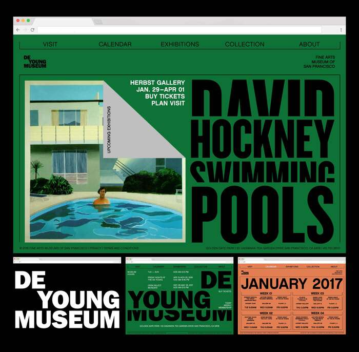De Young Museum visual identity (fictional) 4