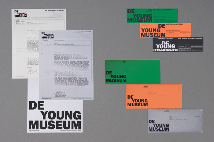 De Young Museum visual identity (fictional) 3