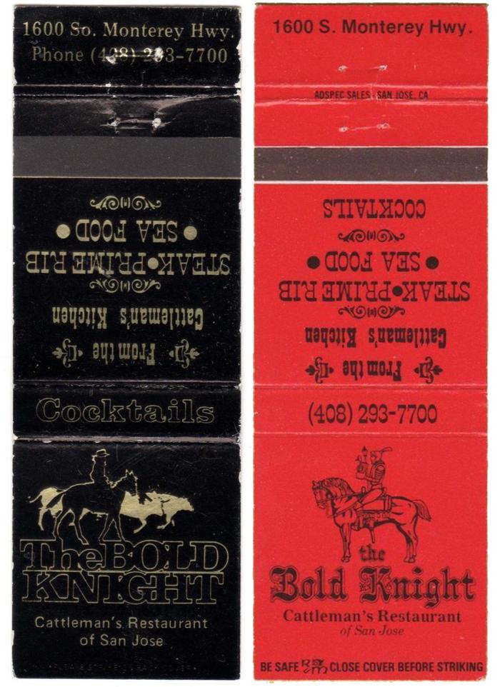 The Bold Knight, Cattleman's Restaurant of San Jose 2