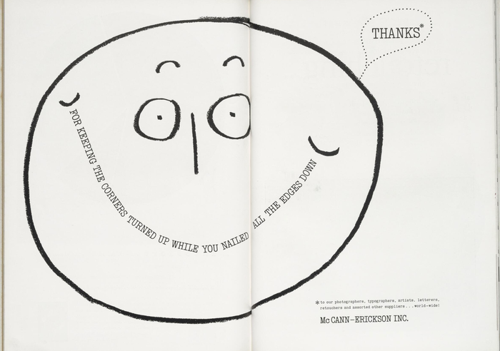 "McCann-Erickson Inc. ad: ""Thanks"""