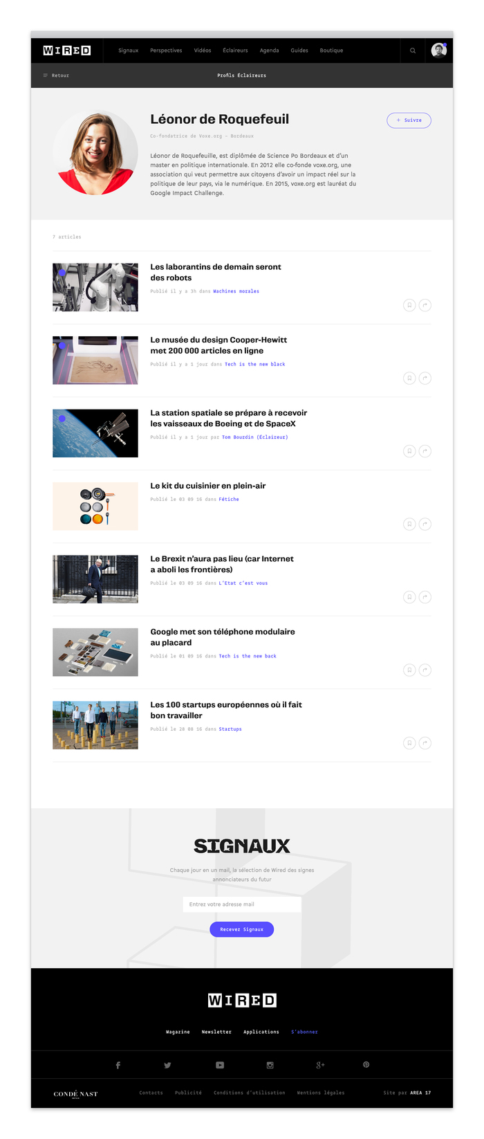 Wired France website 7