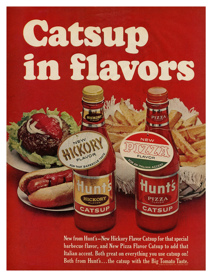 """Hunt's ad – """"Catsup in flavors"""""""