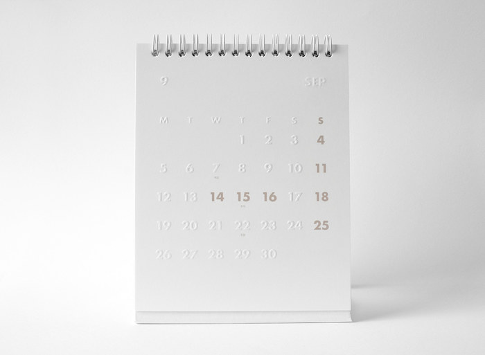 whitestore(WH) desk calendar 2