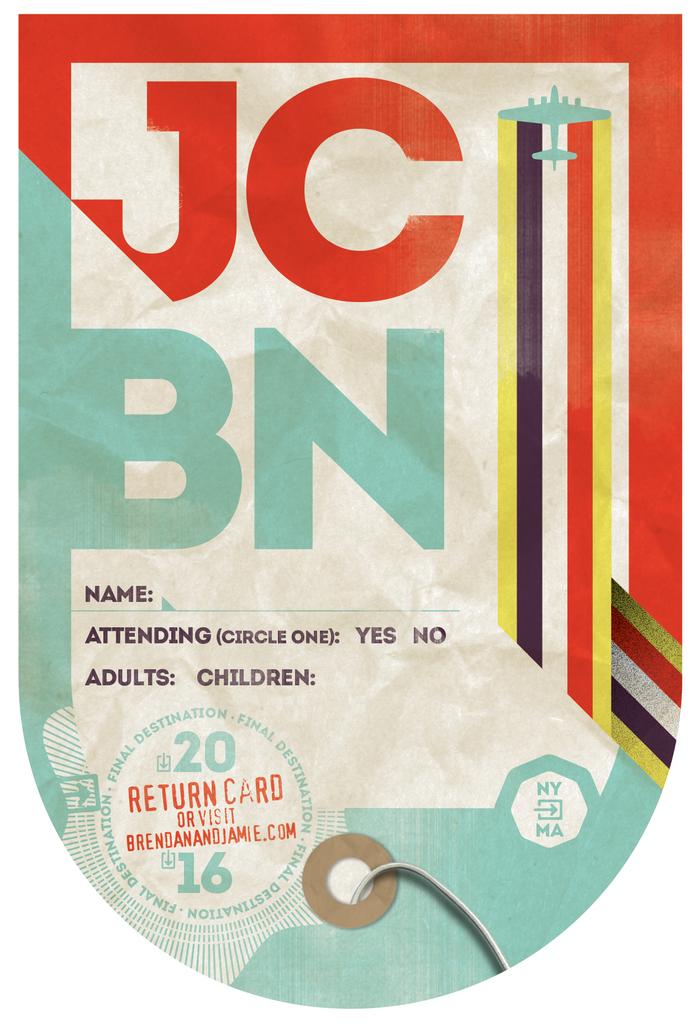 Jamie & Brendan wedding invitation 2