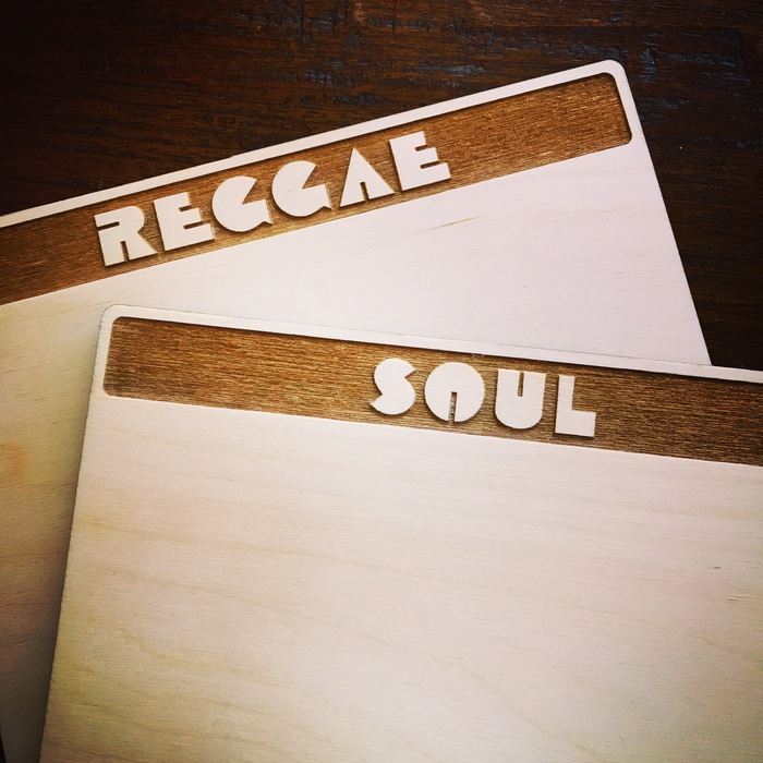 Record dividers at Groove Merchant San Francisco