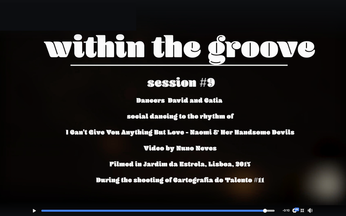 """Within the groove"" video series 2"
