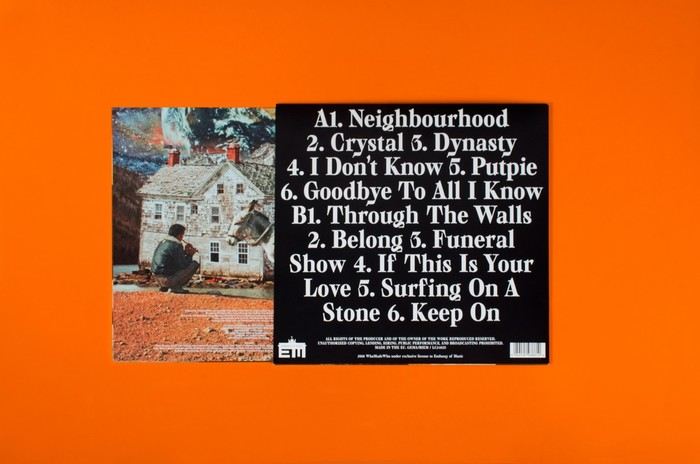 Back cover with track listing