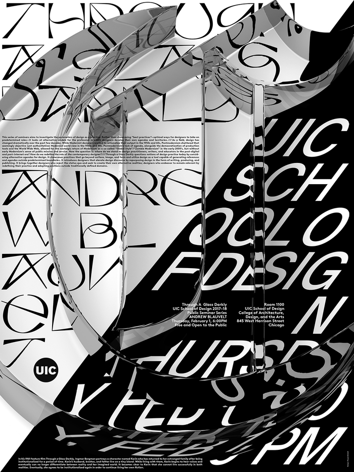 C – Andrew Blauvelt, February 1, 2018, featuring Kraft (Jacob Wise) and Suisse Int'l (Swiss Typefaces).