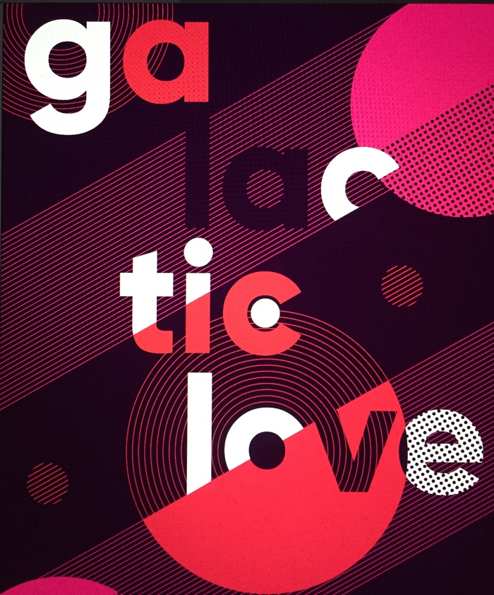 """Galactic Love"" poster"