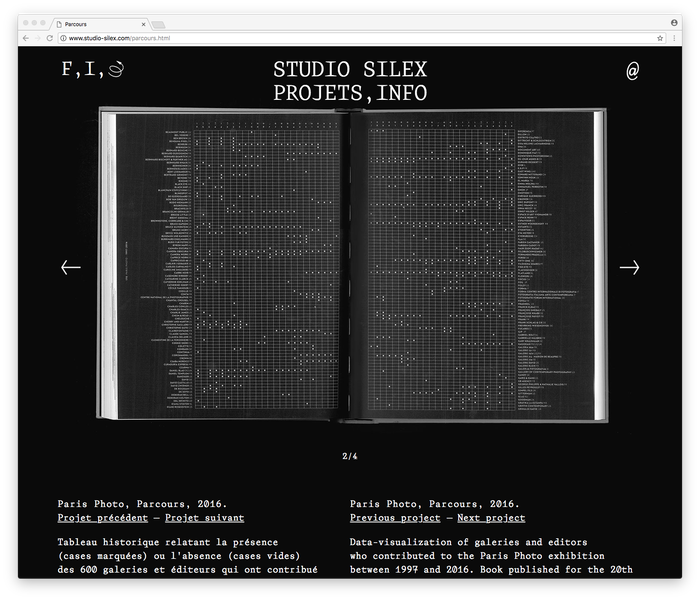 Studio Silex website/identity 4