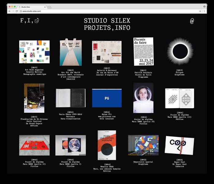 Studio Silex website/identity 1