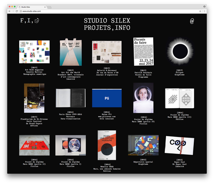 Studio Silex website/identity 1
